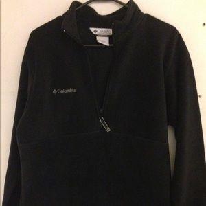 Columbia 1/2 Zip Fleece UNISEX Pullover BLACK Sz S